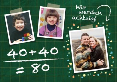 Geburtstagskarte 2 x 40
