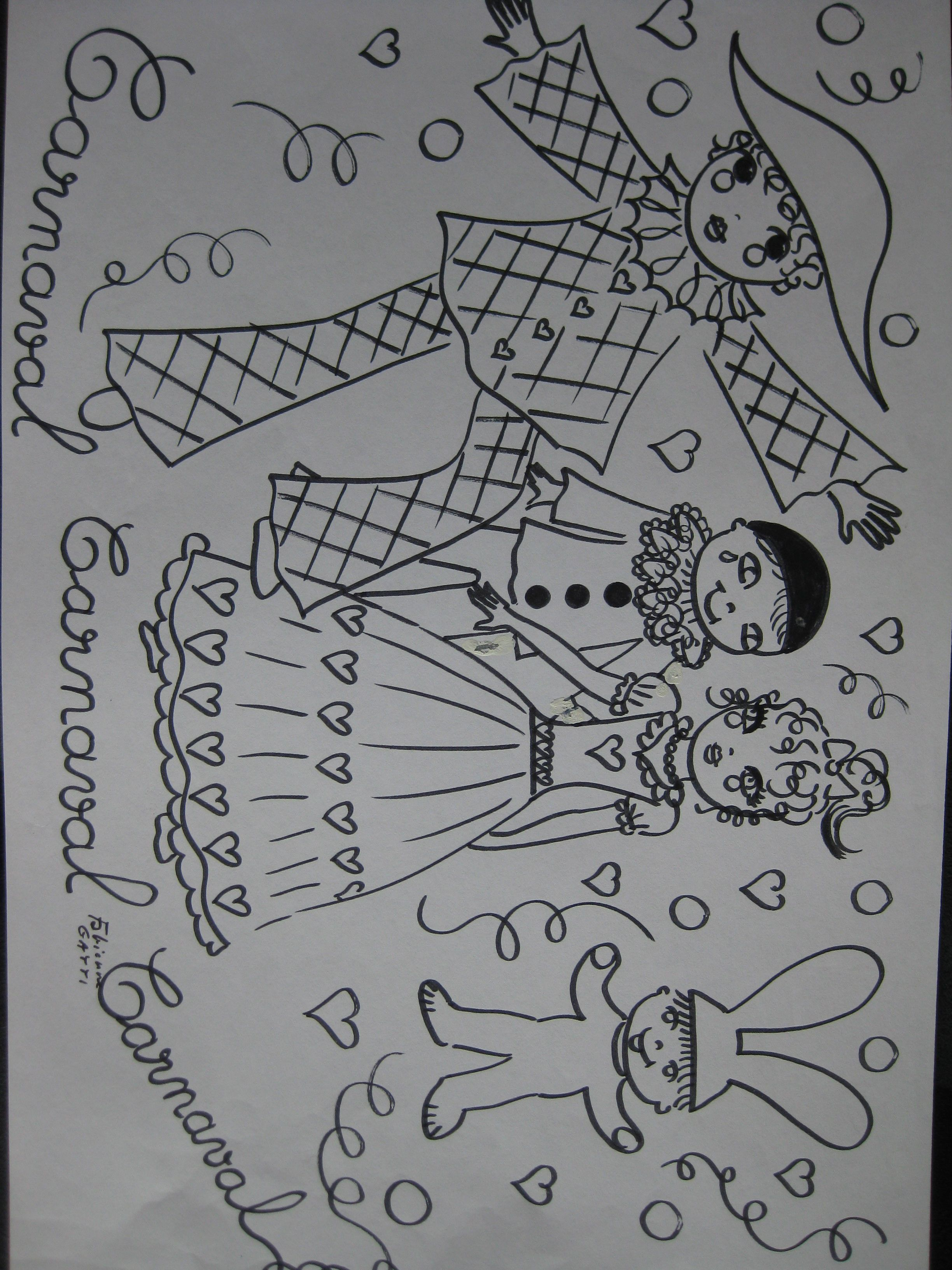 Carnival colouring coloriage carnaval arlequin - Coloriage arlequin maternelle ...