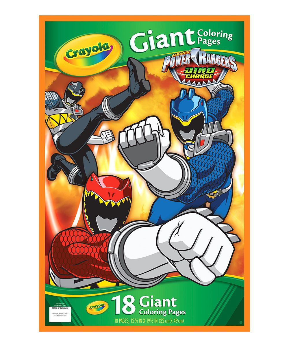 Power Rangers Dino Charge Giant Pages Coloring Book
