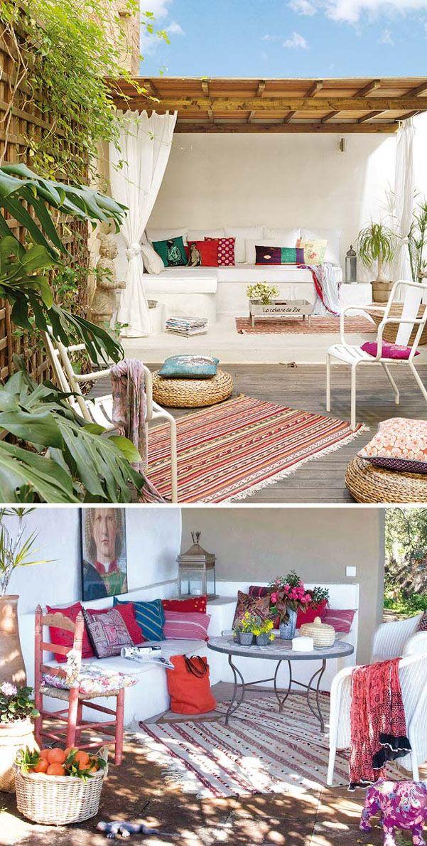 Estilo mediterr neo bancos de obra complementados con muebles de forja - Muebles estilo mediterraneo ...