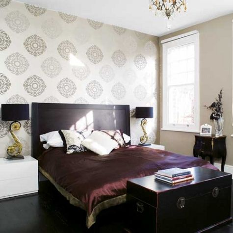 Modern Bedroom Wallpaper Love This For The 2nd Bedroom But Dont