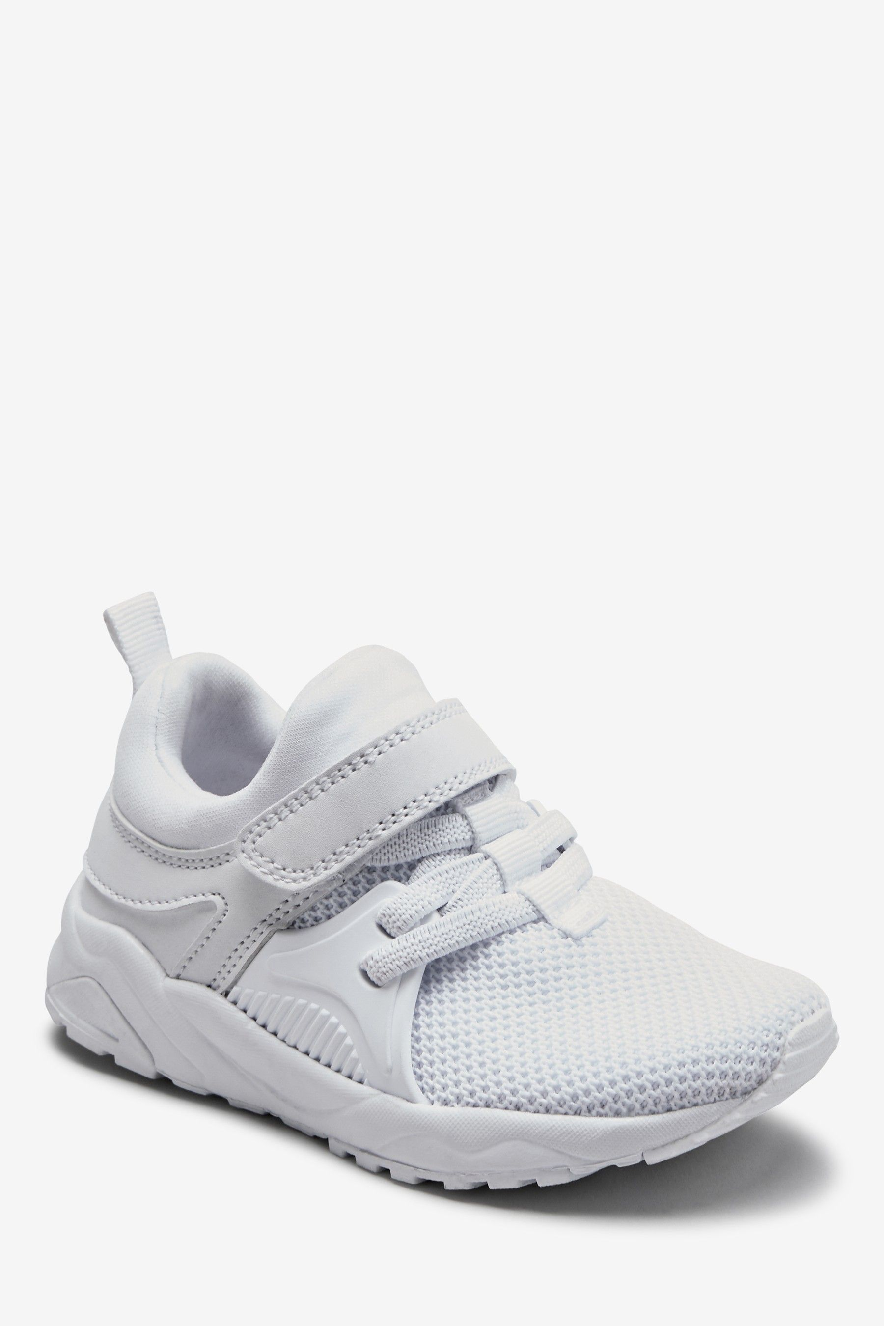 Boys Next White Elastic Lace Trainers