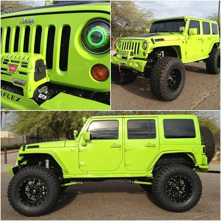 lime green jeep - 720×720
