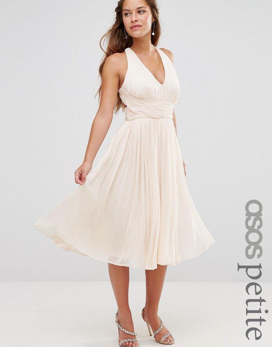 Image 1 of ASOS PETITE WEDDING Hollywood Midi dress | dresses ...
