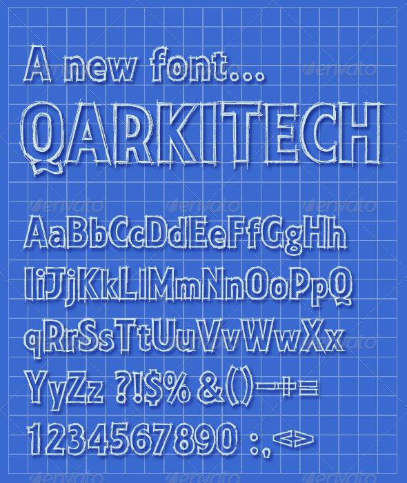 Qarkitech lettering blueprint minimal style minimal style qarkitech lettering blueprint minimal style sans serif fontstypography malvernweather Choice Image