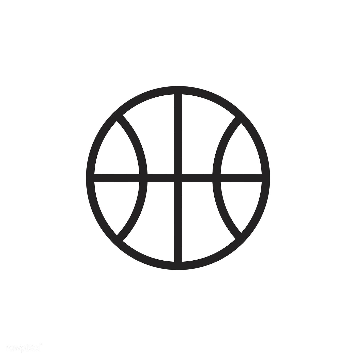 Basketball Icon Vector Free Image By Rawpixel Com Basketball Tattoos Basketball Icon