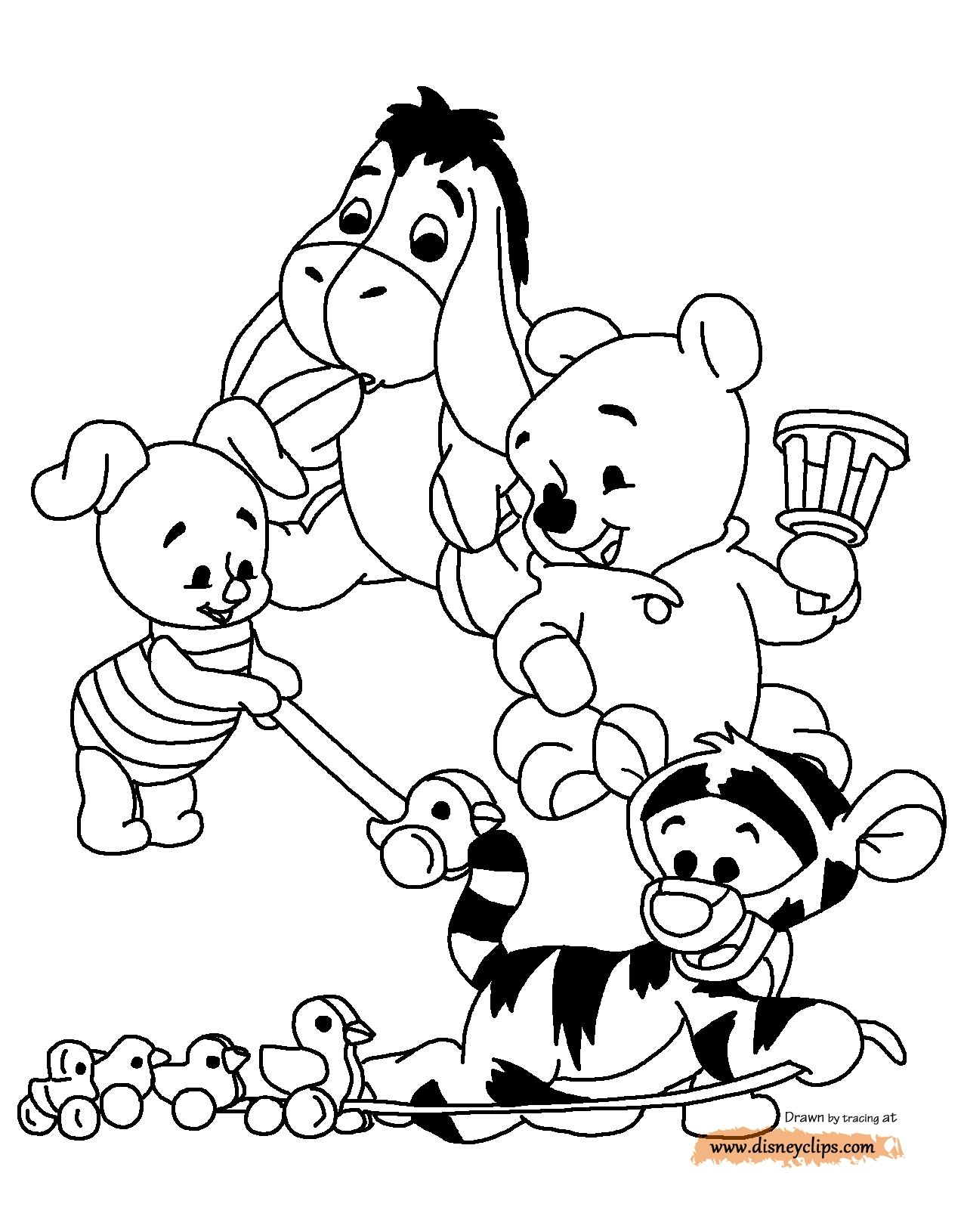Cute Winnie The Pooh Coloring Pages Baby coloring pages