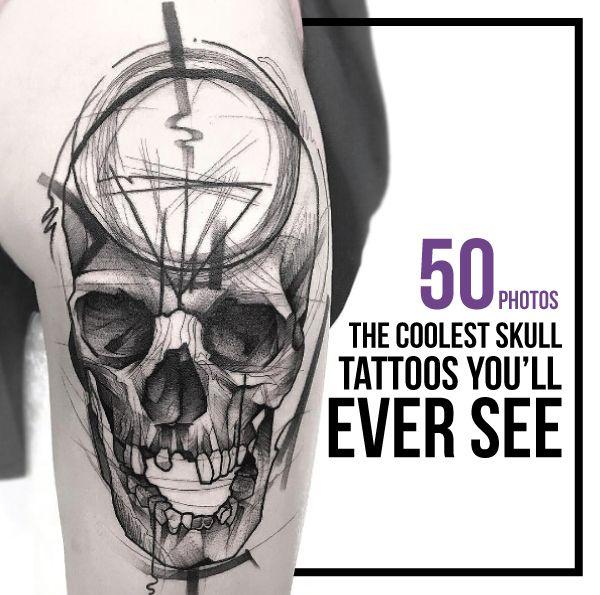 Cool Skull Tattoos Designs Lilostyle In 2020 Skull Tattoos Tattoos Skull