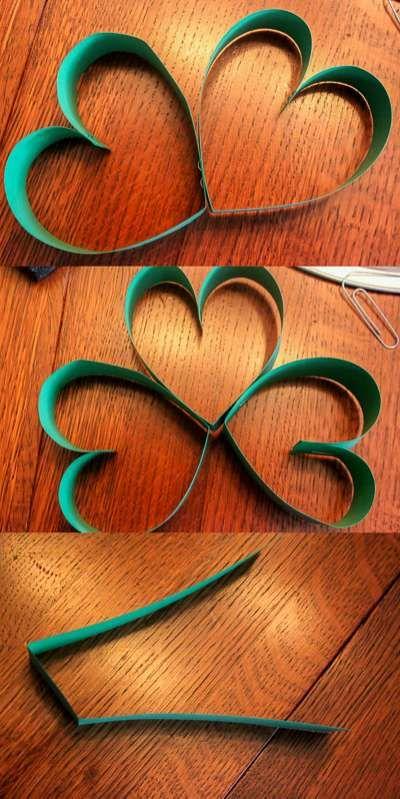 Preschool Craft Shamrocks For St Patrick S Day Holiday Crafts