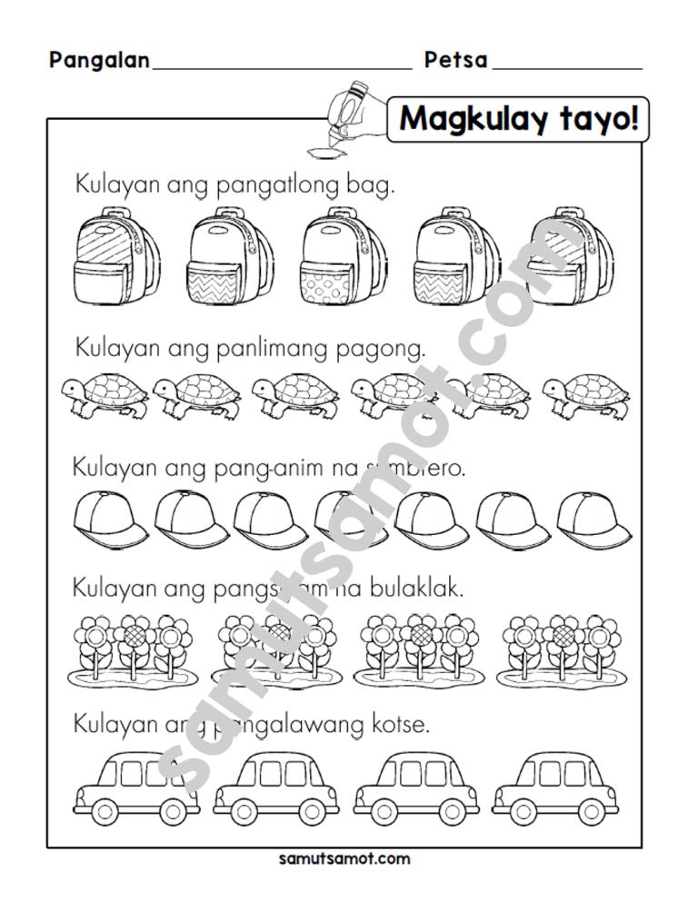 Filipino Worksheets Archives Samutsamot Worksheets