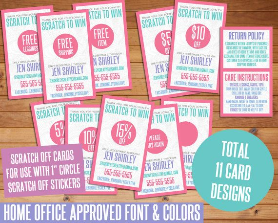 Chalkboard Scratch Off Cards, Customized, Personalized, Business ...