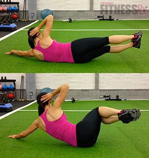 side double crunch  train your abs from all angles  abs