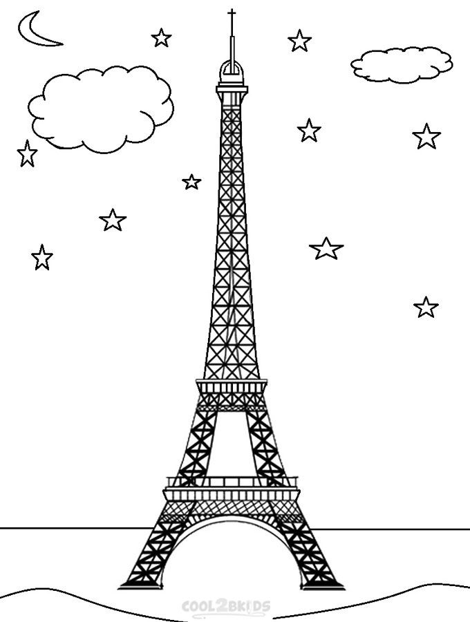 Printable Eiffel Tower Coloring Pages For Kids Cool2bkids Eiffel Tower Coloring Pages Coloring Pages For Kids
