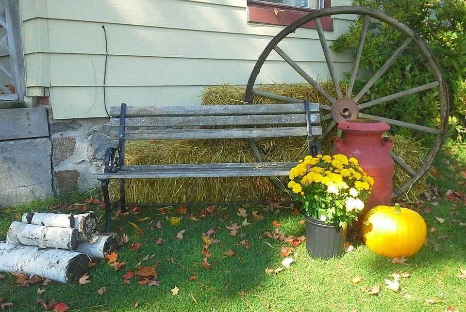 My outdoor fall display.