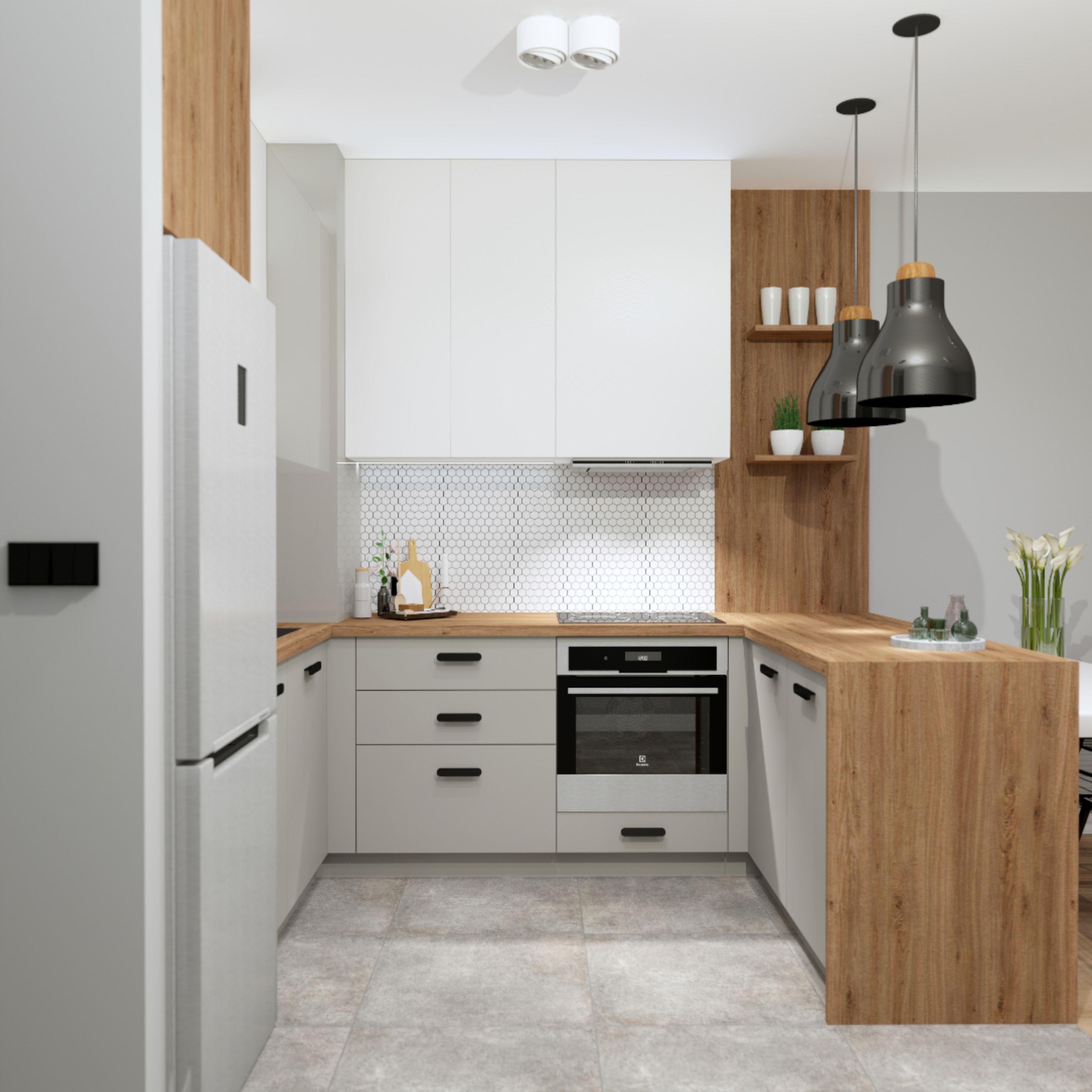 Interriordesign Kitchen Wood Mozaika Kuchnia Projekt Wnetrza Szarosci Meble Na Wymiar Kitchen Home Home Decor