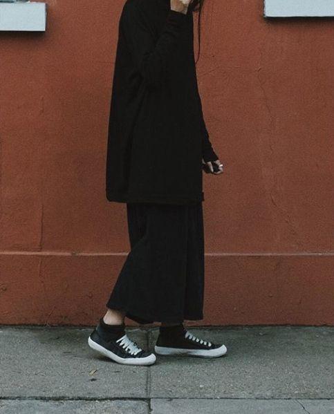 5ef165508415e frou frouu wearing Pedro García Parson satin sneakers in black ...