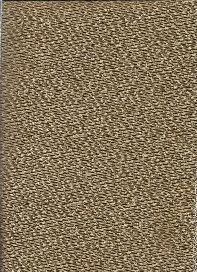 Turnkey In Sepia Fabric Woven Geometric Pattern For