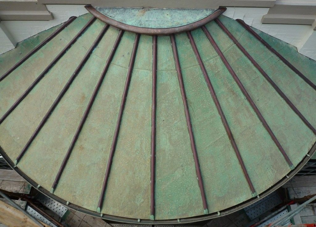 Copper Roofing Sydney Existing Curved Roof Slavaged Repaired 1024x736 Jpg 1024 736 Copper Roof Roofing Roofing Materials