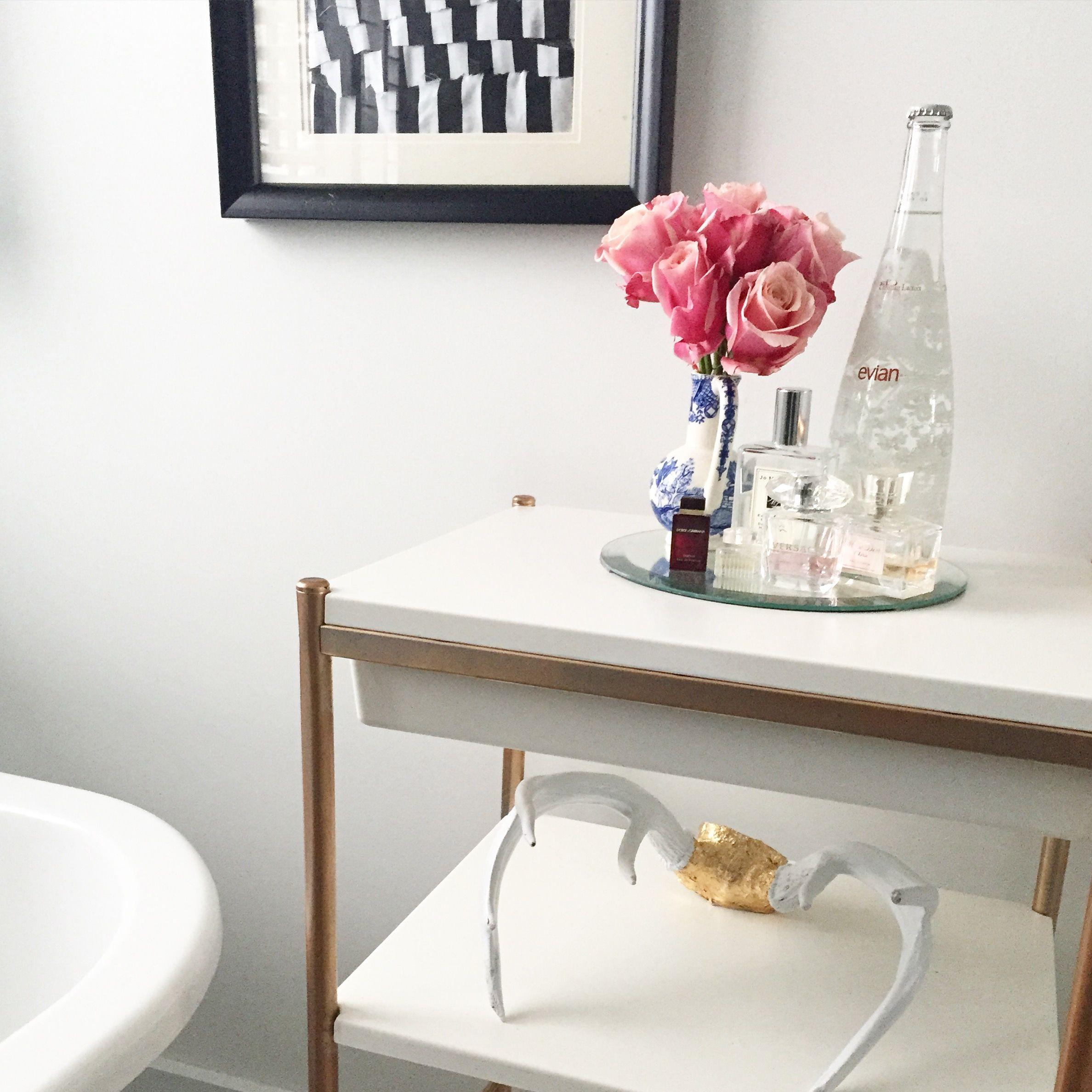 Ikea Hack Gold Bathroom Cart  Httpsouthernhaus  Dream Inspiration Small Bathroom Cart Inspiration Design