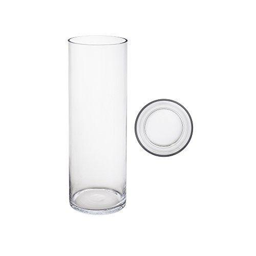 Mega Vases 5 X 16 Cylinder Glass Vase Set Of 1 Clear Glass