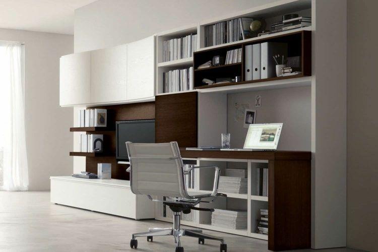Aménagement de bureau moderne dans un salon design aménagement