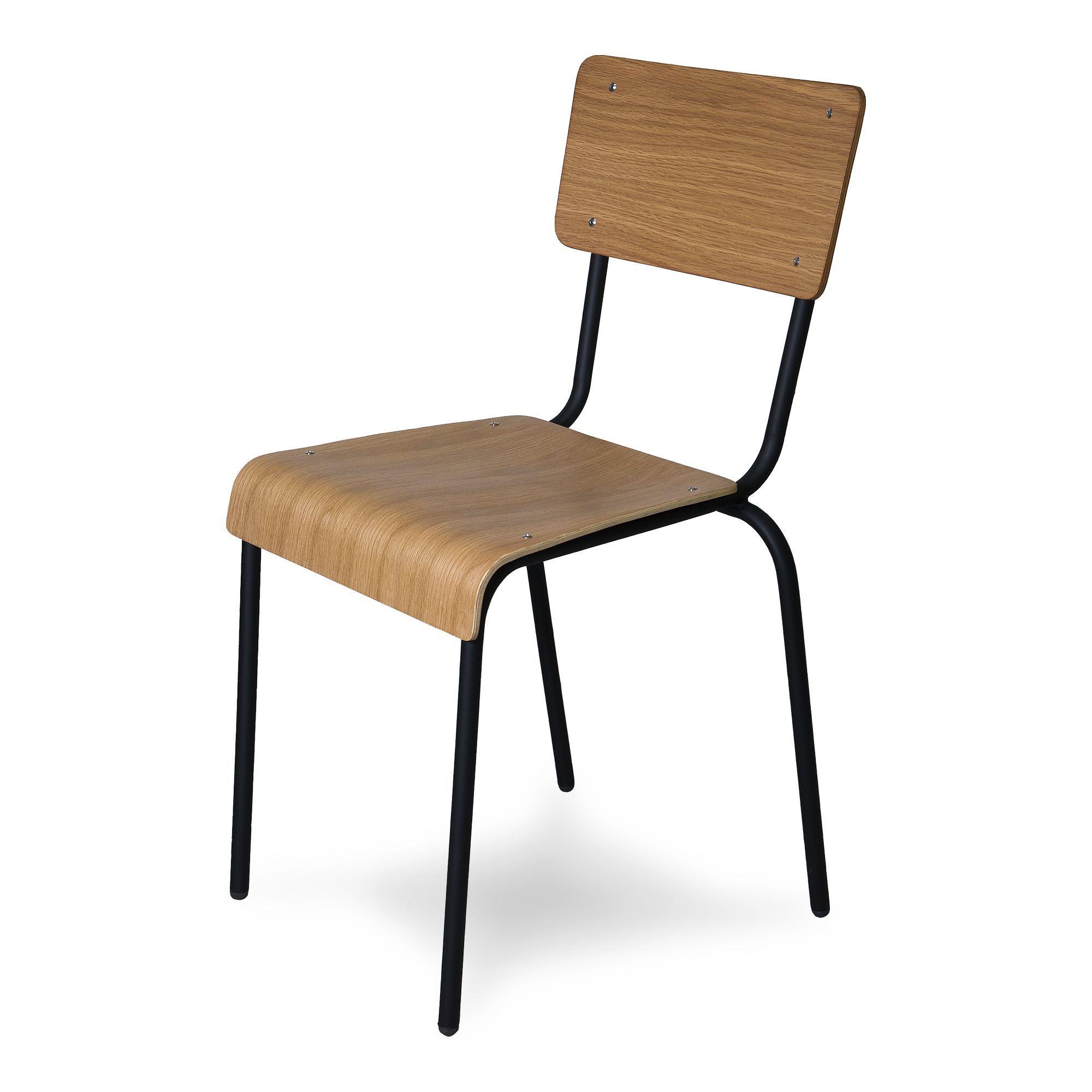 chaise style colier naturelle h73cm noir ikon chaises tables et chaises salon