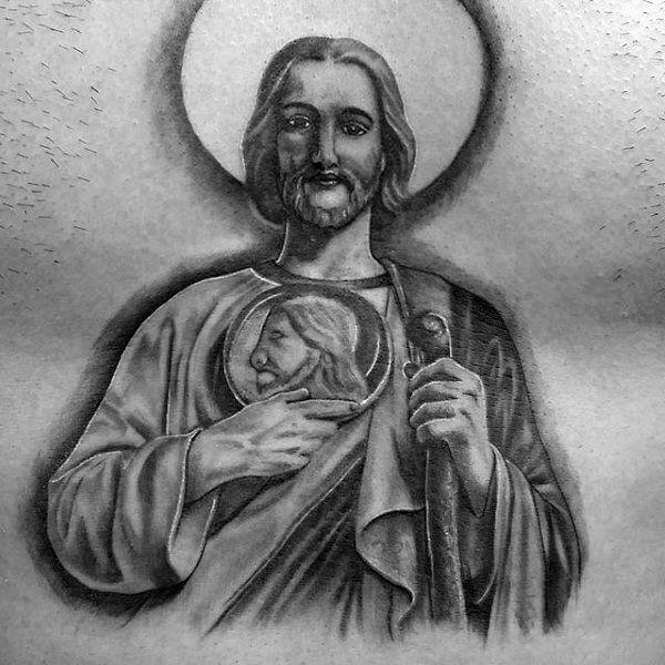 40 St Jude Tattoo Designs For Men - Religious Ink Ideas   lett ...