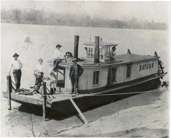 around 1900 boat on Tennessee River used to deliver mail