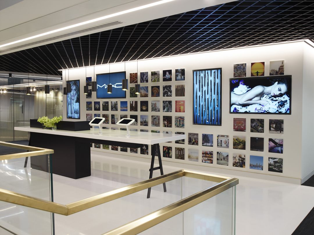 Estee Lauder Hq Reception Area Designed By Mcm Architecture