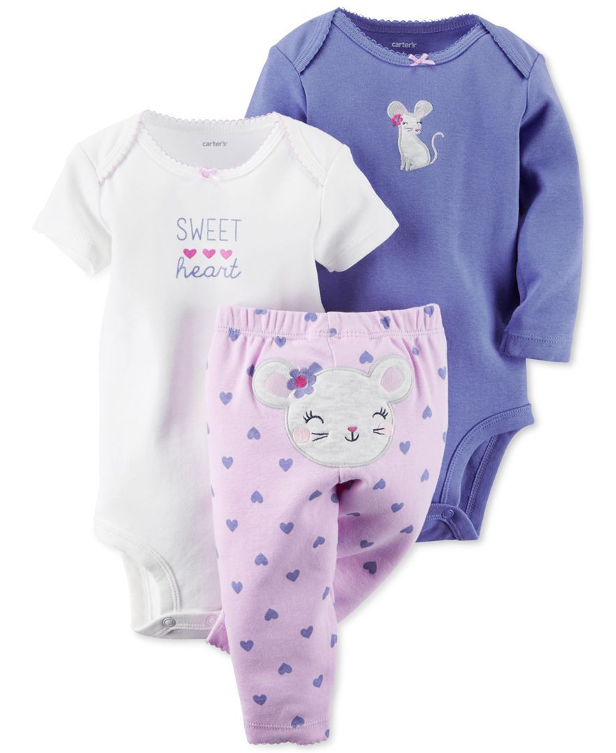 Strawberries /'SWEET/' NWT outfit bodysuits Carter/'s Infant Girls 3-Piece Set