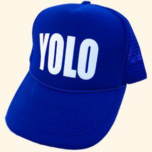 45efc4b1e805a Blue YOLO hat neon rage party edm rave snapback