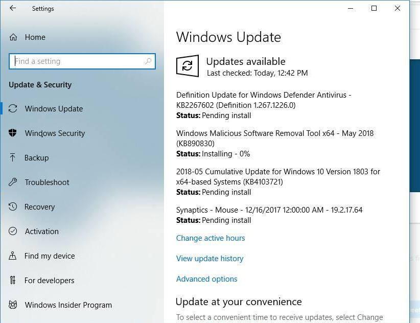 Cumulative Update for Windows 10 Version 1803 stuck at 0