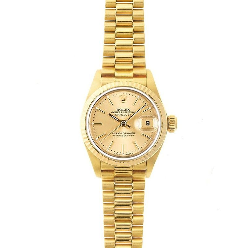 Looking for a watch upgrade? This is it.. Rolex Lady President 26mm 90's Model 69178 #lady #rolex #president