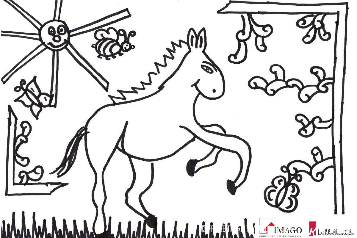 Ausmalbild Pferd  Ausmalen, Ausmalbilder pferde, Ausmalbilder