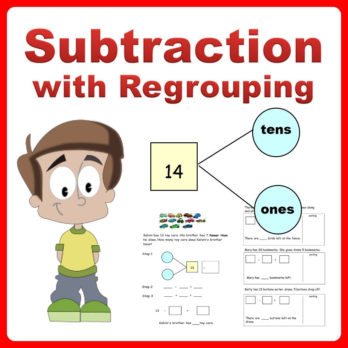 No Prep Resource To Revise Subtraction Learn To Subtract