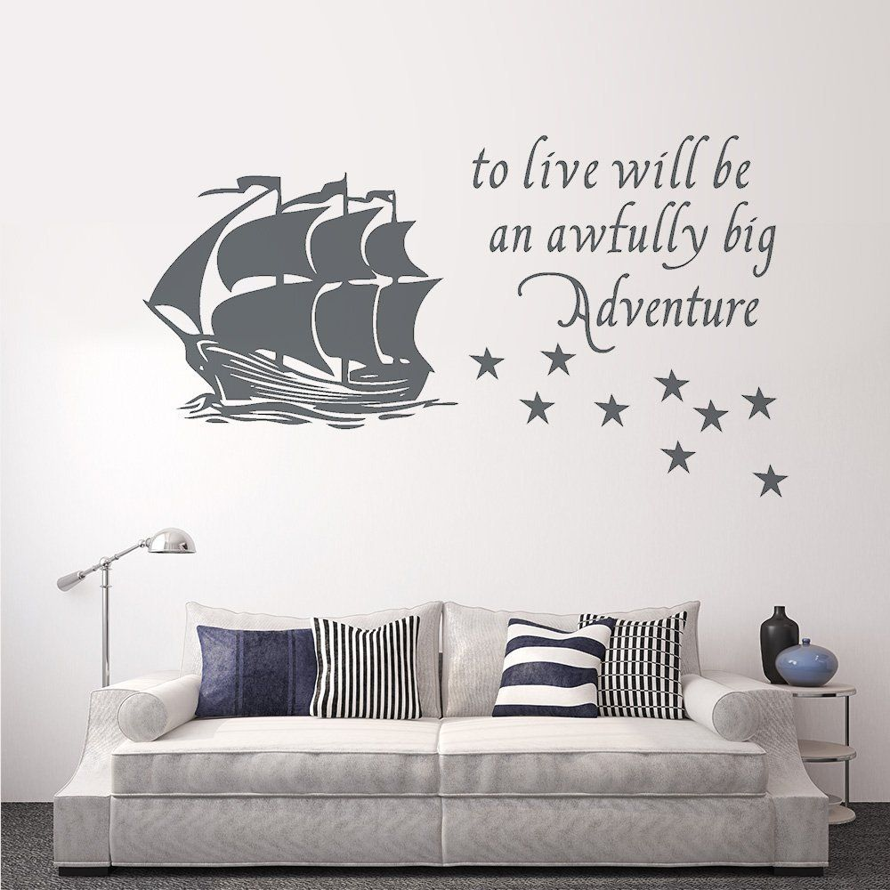 Amazon.com: Wall Decal Decor Peter Pan Wall Decal Quote to Live Will ...