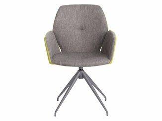 Moods Stoelen Mobitec : Swivel trestle based fabric chair with armrests mood#95 pm07 bi