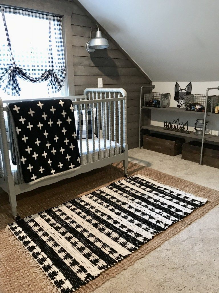 Our Attic Room Makeover Nursery Reveal Bless This Nest Black Bedroom Furniture Attic Rooms Bedroom Carpet