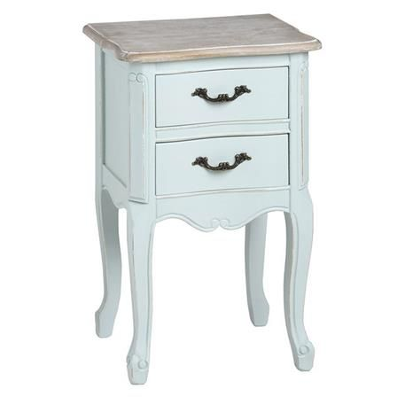 Cheap Bedside Table duck egg 2 drawer bedside table in blue | beach/nautical/water