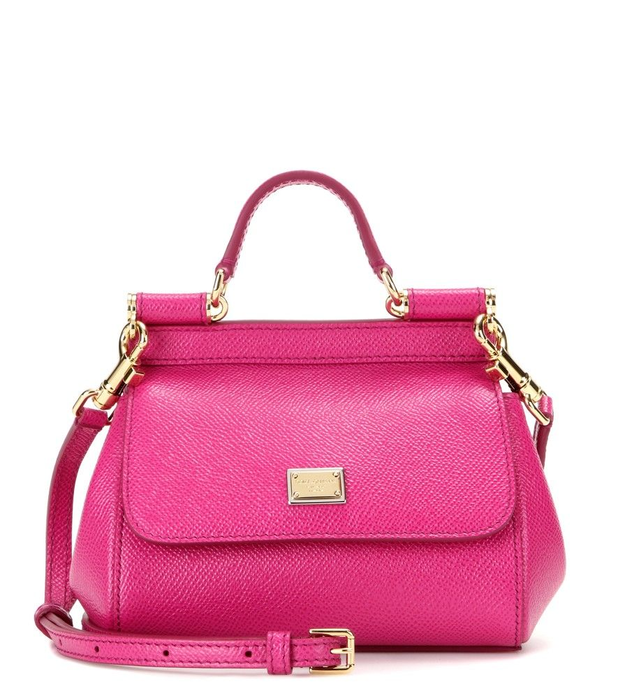 403ea24584 Dolce   Gabbana - Miss Sicily Micro leather shoulder bag - Dolce   Gabbana s   Miss Sicily  bag is oh-so covetable in this  Micro  size and fuchsia-pink  ...