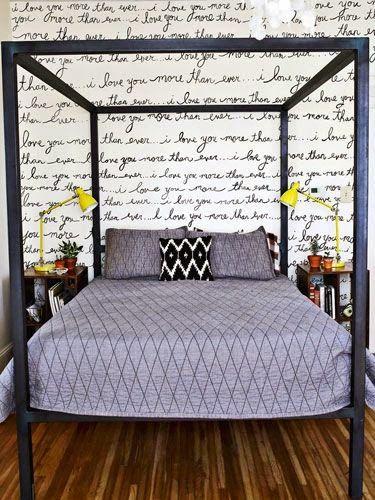 Quando abbiamo iniziato a pensare la camera da letto, avevamo deciso ...