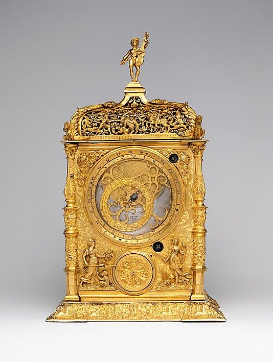 Astronomical Table Clock - Gilded Brass - Clockmaker: Caspar Behaim (Chasparus Bohemus) (active 1568–84) - Vienna, Austria - 1568