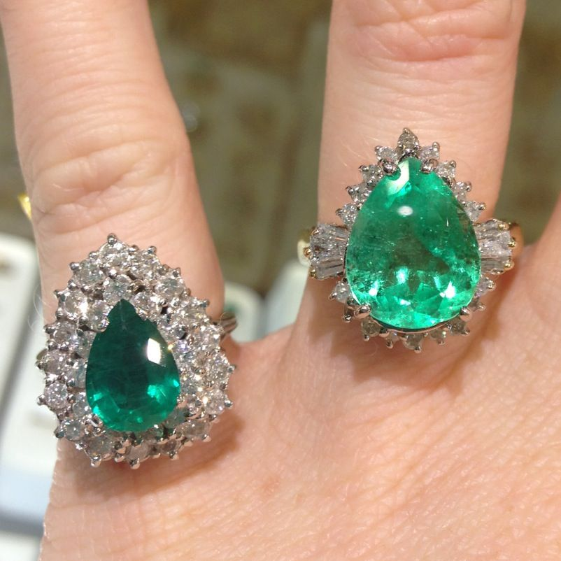 pear shaped emerald rings with diamonds bloggy bling