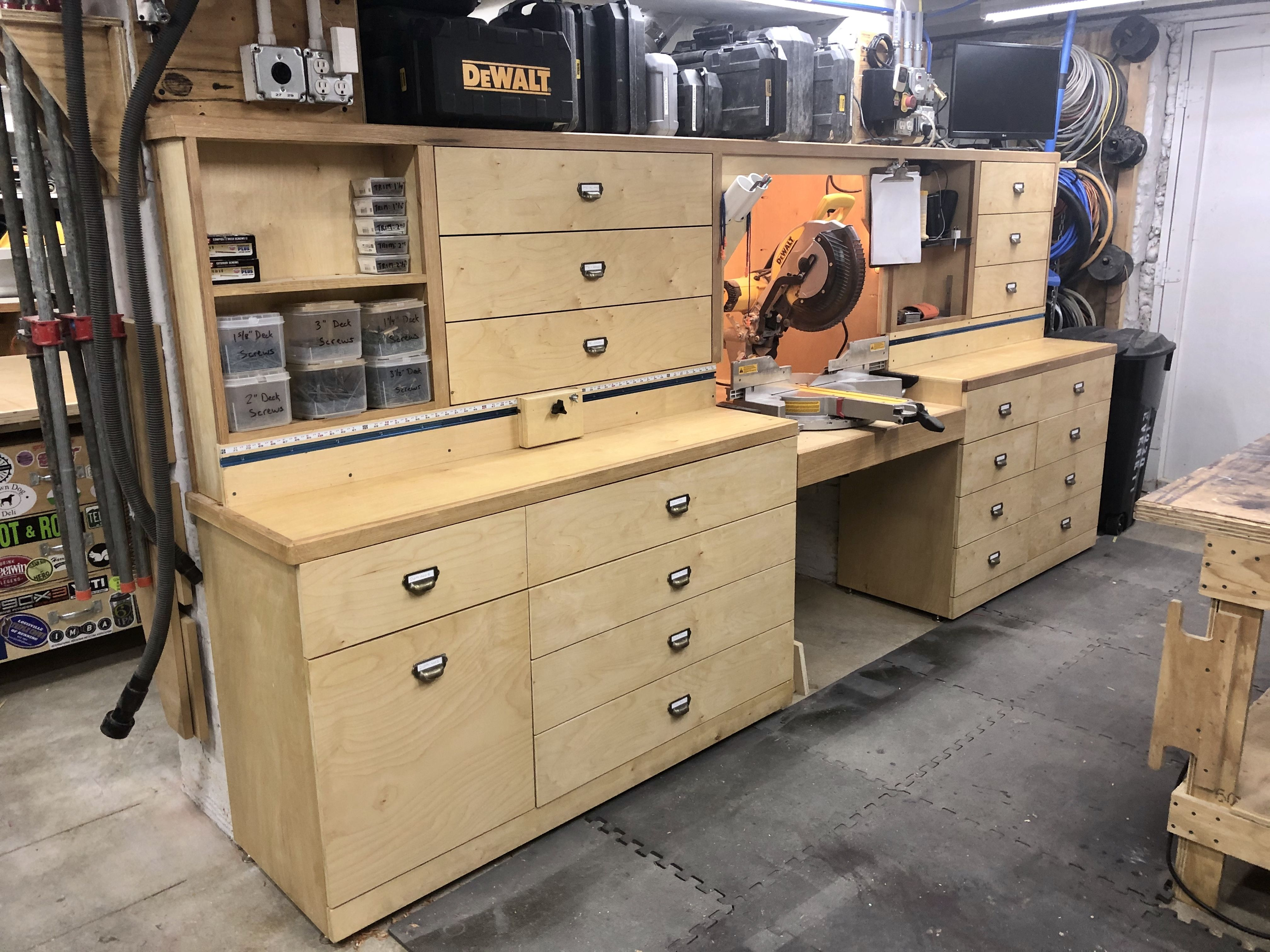 Pin By Steve Gruber On Woodworking Shop Projects In 2020 Mitre Saw Station Woodworking Shop Projects Miter Saw