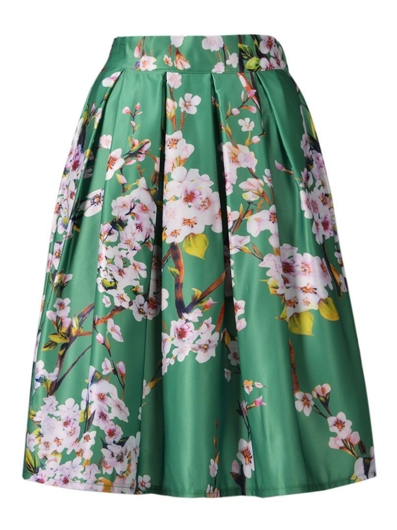 Floral Printed High Waist Skirt | High waist skirt, Colors and ...