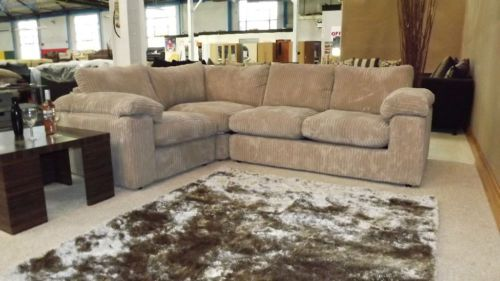 Riva Jumbo Beige Cream Fabric Cord Corner Group Sofa Sofa Ebay Sofa Sofa Online
