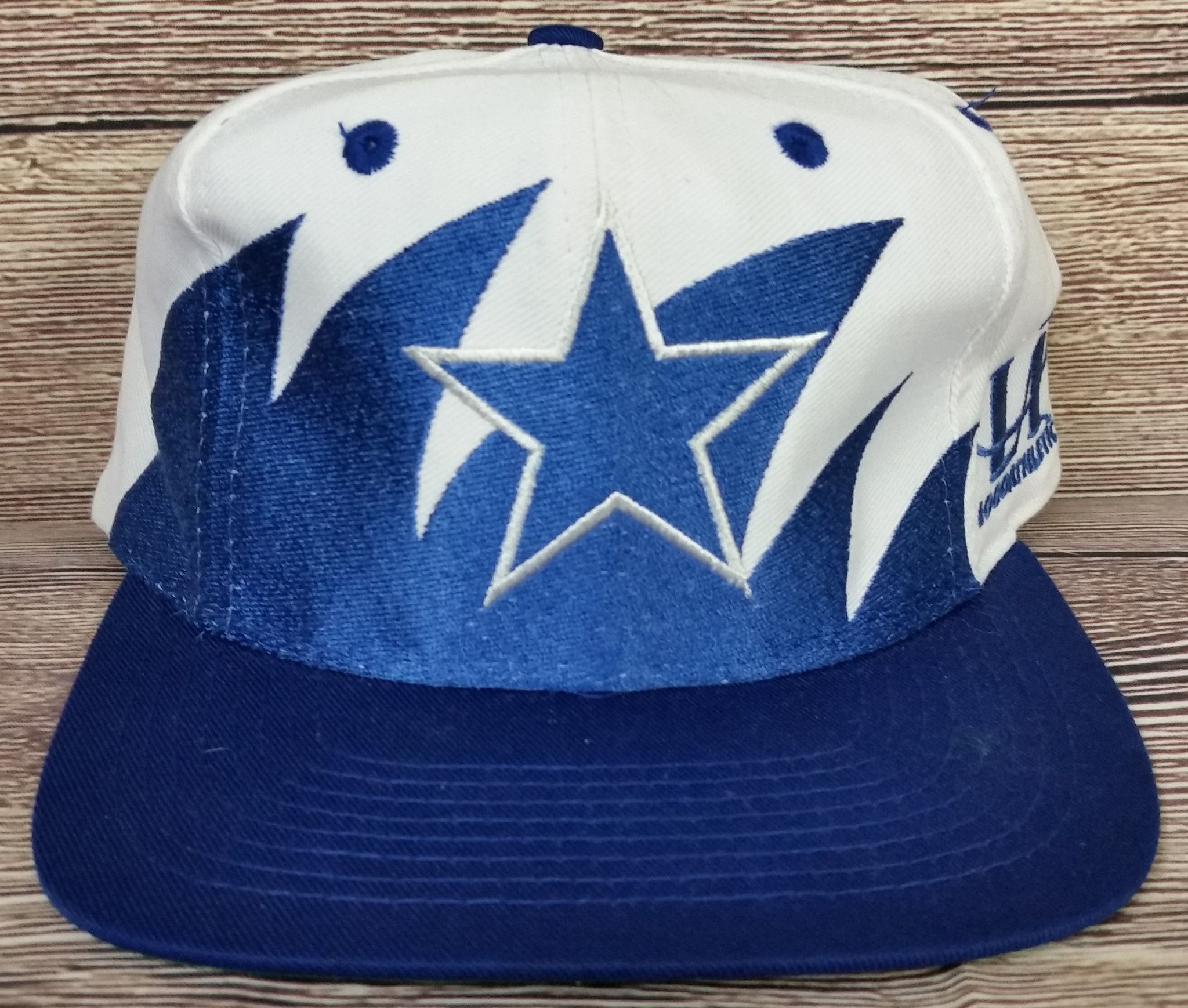 69ca1738 Dallas Cowboys Vintage Snapback Logo Athletic Sharktooth Hat NFL Pro Line  Cap Ra