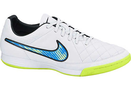 Nike Tiempo Legacy Indoor Shoes - White and Blue  8337f59aee9b3
