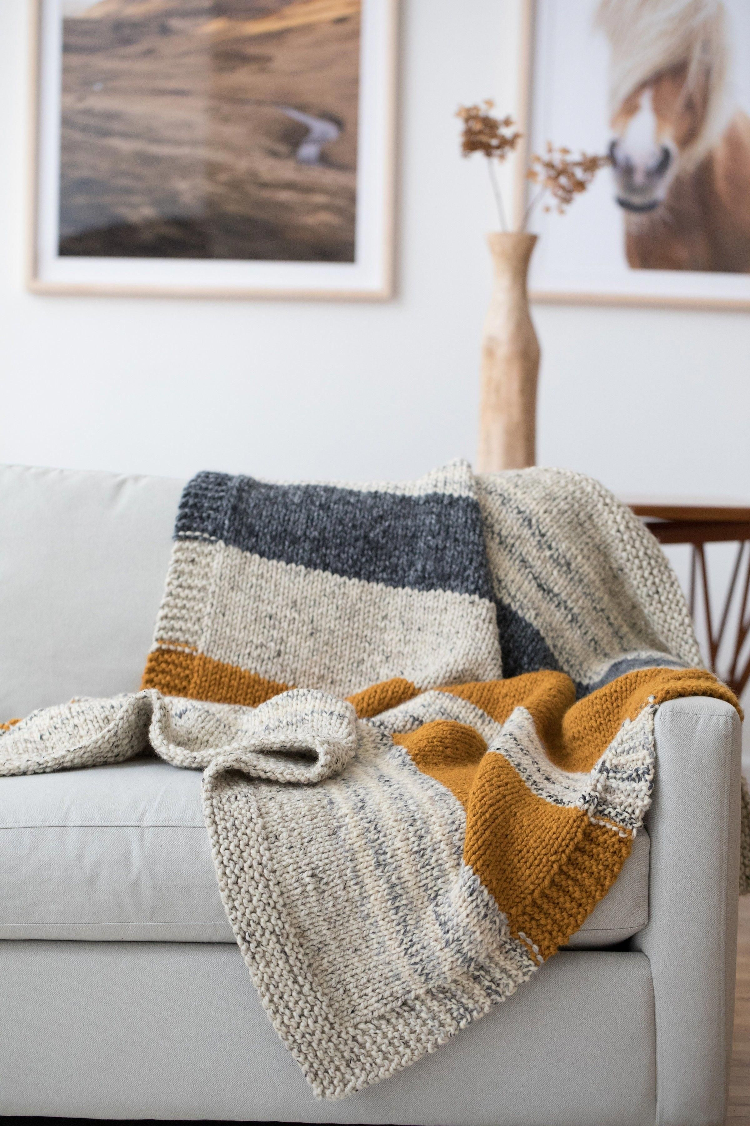 Photo of Simple Striped Afghan (Knit)