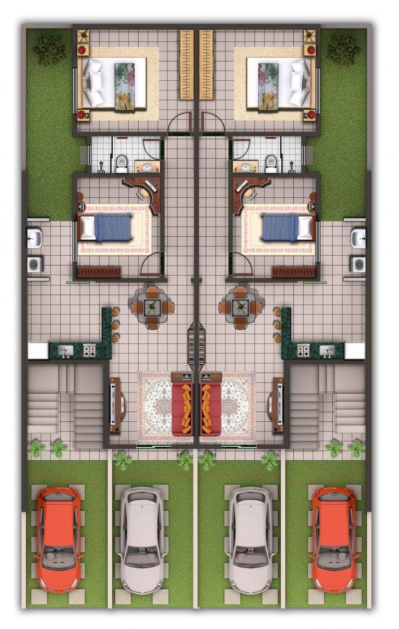 projetos de apartamentos geminados baratos